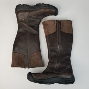 Keen Leather Waterproof Brown Tall Boots Size 7.5